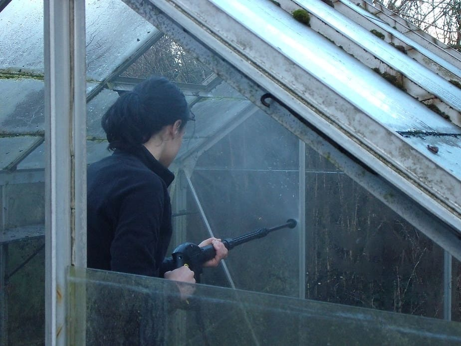 how to deep clean a greenhouse
