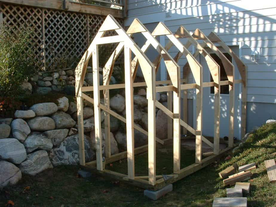 beginning greenhouse construction