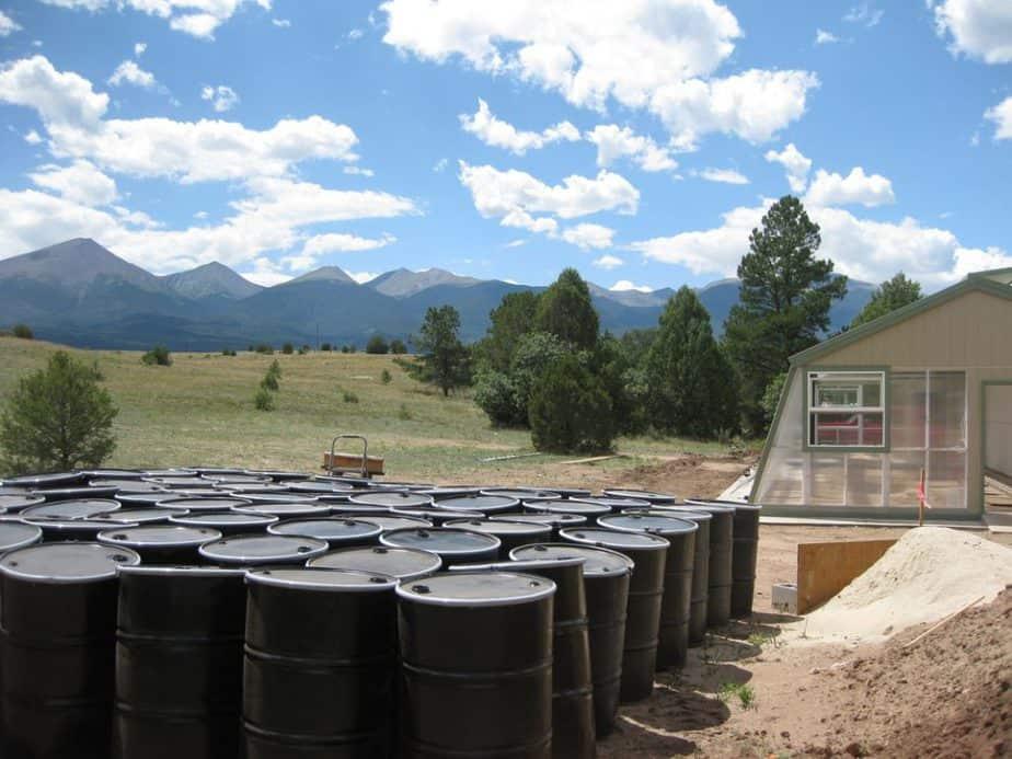rain barrel thermal battery