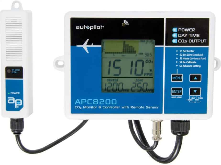 Autopilot APC8200 Monitor & Controller Best CO2 Sensors For Greenhouses and Grow Rooms
