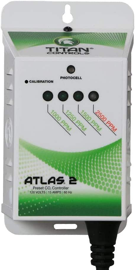 Titan Controls HGC702618 Atlas 2 CO2 Monitor Best CO2 Sensors For Greenhouses and Grow Rooms