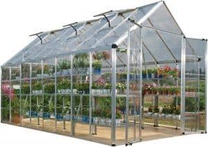 Palram Snap & Grow (8 x 16 Ft) Silver Greenhouse