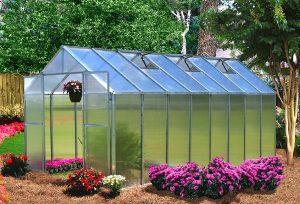 Riverstone Industries Monticello (8 x 16 Ft) Black Greenhouse