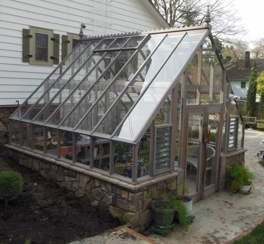 Glass or Plastic Greenhouse