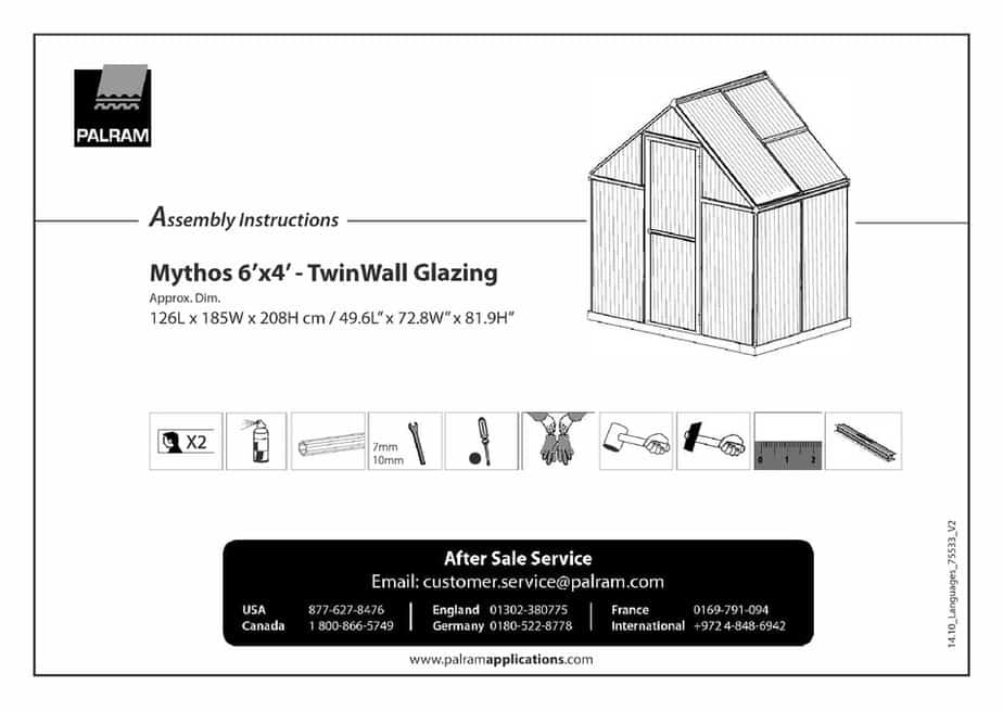 greenhouse kit instruction manual tips