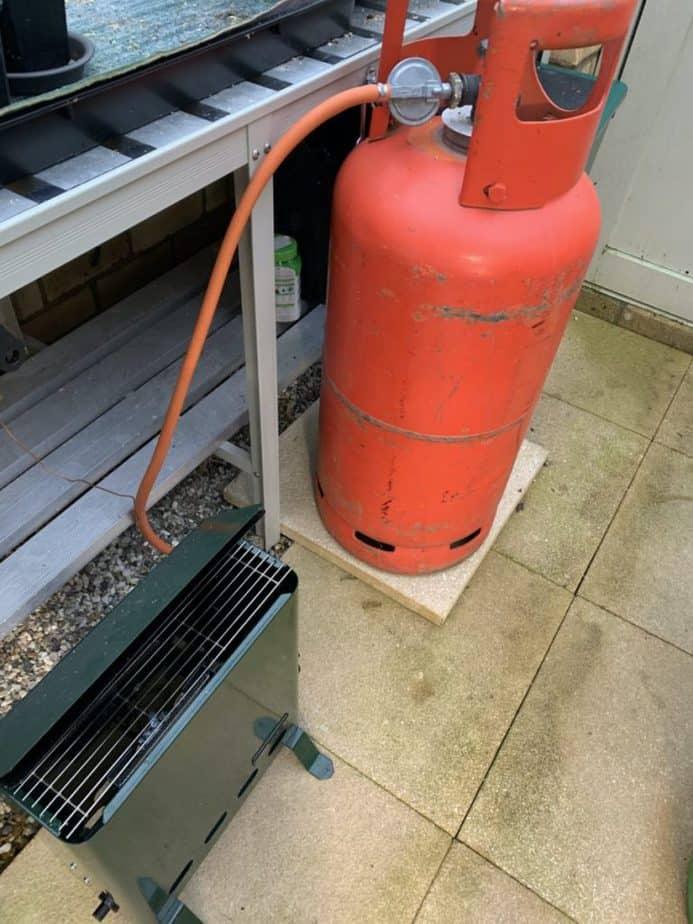 gas greenhouse heating